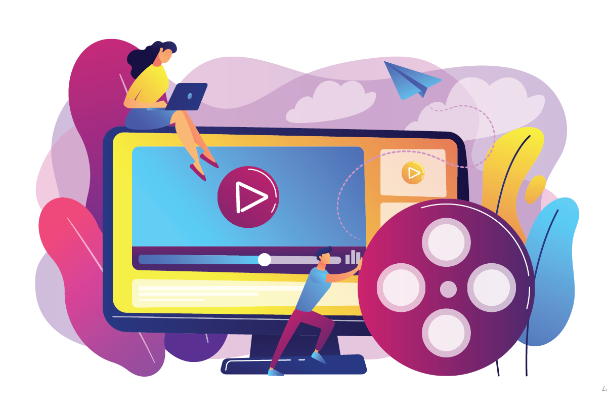 An online course with video
