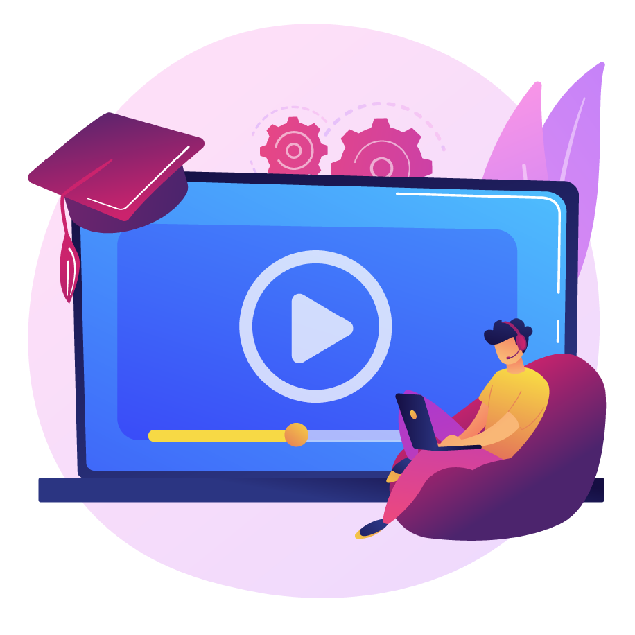 Online learning with video courses